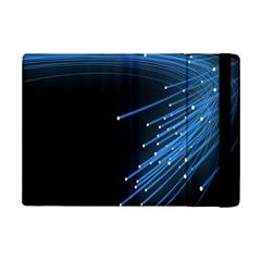Abstract Light Rays Stripes Lines Black Blue iPad Mini 2 Flip Cases