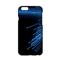 Abstract Light Rays Stripes Lines Black Blue Apple iPhone 6/6S Hardshell Case