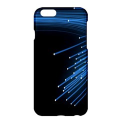 Abstract Light Rays Stripes Lines Black Blue Apple iPhone 6 Plus/6S Plus Hardshell Case