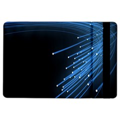 Abstract Light Rays Stripes Lines Black Blue iPad Air 2 Flip