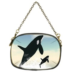 Whale Mum Baby Jump Chain Purses (Two Sides)