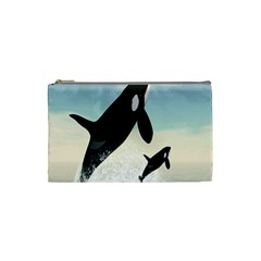 Whale Mum Baby Jump Cosmetic Bag (Small)