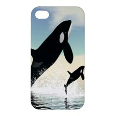 Whale Mum Baby Jump Apple iPhone 4/4S Hardshell Case