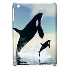 Whale Mum Baby Jump Apple iPad Mini Hardshell Case
