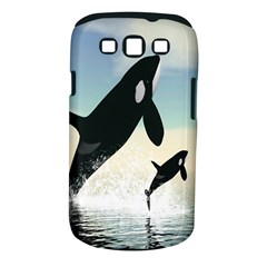 Whale Mum Baby Jump Samsung Galaxy S III Classic Hardshell Case (PC+Silicone)