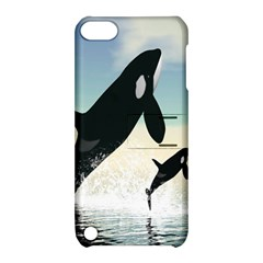 Whale Mum Baby Jump Apple Ipod Touch 5 Hardshell Case With Stand