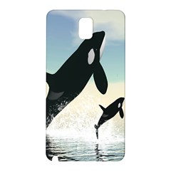 Whale Mum Baby Jump Samsung Galaxy Note 3 N9005 Hardshell Back Case