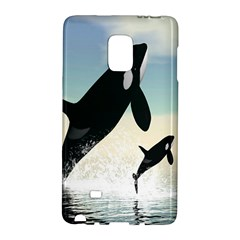 Whale Mum Baby Jump Galaxy Note Edge