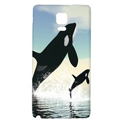 Whale Mum Baby Jump Galaxy Note 4 Back Case