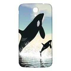 Whale Mum Baby Jump Samsung Galaxy Mega I9200 Hardshell Back Case