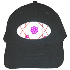 Atom Physical Chemistry Line Red Purple Space Black Cap