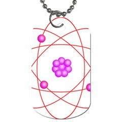 Atom Physical Chemistry Line Red Purple Space Dog Tag (two Sides)