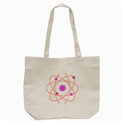 Atom Physical Chemistry Line Red Purple Space Tote Bag (cream)