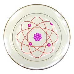Atom Physical Chemistry Line Red Purple Space Porcelain Plates