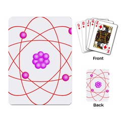 Atom Physical Chemistry Line Red Purple Space Playing Card