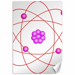 Atom Physical Chemistry Line Red Purple Space Canvas 12  x 18
