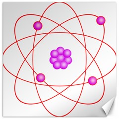 Atom Physical Chemistry Line Red Purple Space Canvas 16  x 16