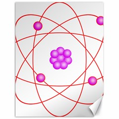 Atom Physical Chemistry Line Red Purple Space Canvas 18  x 24