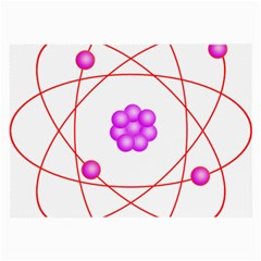 Atom Physical Chemistry Line Red Purple Space Large Glasses Cloth