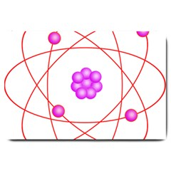 Atom Physical Chemistry Line Red Purple Space Large Doormat