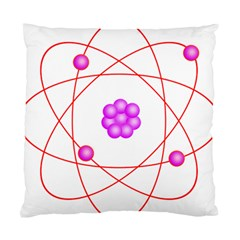Atom Physical Chemistry Line Red Purple Space Standard Cushion Case (two Sides)