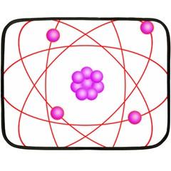 Atom Physical Chemistry Line Red Purple Space Fleece Blanket (Mini)
