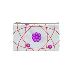 Atom Physical Chemistry Line Red Purple Space Cosmetic Bag (Small)