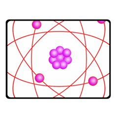 Atom Physical Chemistry Line Red Purple Space Fleece Blanket (Small)