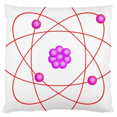Atom Physical Chemistry Line Red Purple Space Large Cushion Case (Two Sides)