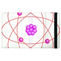 Atom Physical Chemistry Line Red Purple Space Apple iPad 3/4 Flip Case