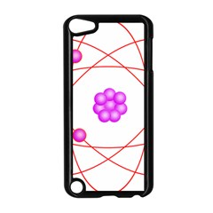 Atom Physical Chemistry Line Red Purple Space Apple iPod Touch 5 Case (Black)