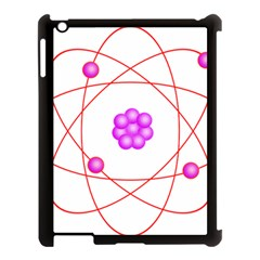 Atom Physical Chemistry Line Red Purple Space Apple iPad 3/4 Case (Black)
