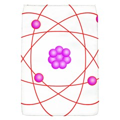 Atom Physical Chemistry Line Red Purple Space Flap Covers (S)