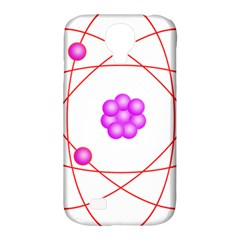 Atom Physical Chemistry Line Red Purple Space Samsung Galaxy S4 Classic Hardshell Case (PC+Silicone)