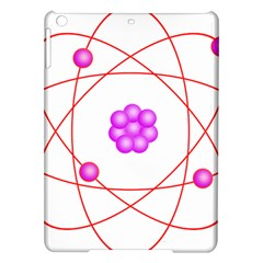 Atom Physical Chemistry Line Red Purple Space iPad Air Hardshell Cases