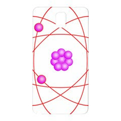 Atom Physical Chemistry Line Red Purple Space Samsung Galaxy Note 3 N9005 Hardshell Back Case