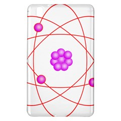 Atom Physical Chemistry Line Red Purple Space Samsung Galaxy Tab Pro 8.4 Hardshell Case