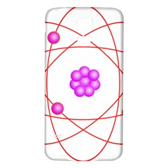Atom Physical Chemistry Line Red Purple Space Samsung Galaxy S5 Back Case (White)