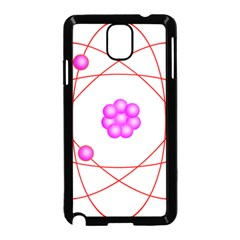 Atom Physical Chemistry Line Red Purple Space Samsung Galaxy Note 3 Neo Hardshell Case (Black)