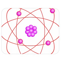 Atom Physical Chemistry Line Red Purple Space Double Sided Flano Blanket (Medium)
