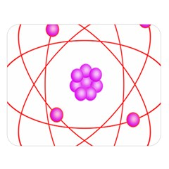 Atom Physical Chemistry Line Red Purple Space Double Sided Flano Blanket (Large)