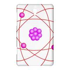 Atom Physical Chemistry Line Red Purple Space Samsung Galaxy Tab S (8.4 ) Hardshell Case