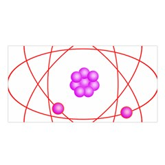 Atom Physical Chemistry Line Red Purple Space Satin Shawl