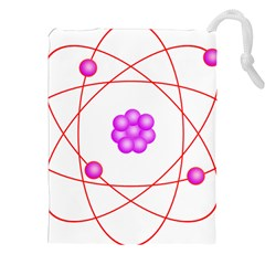 Atom Physical Chemistry Line Red Purple Space Drawstring Pouches (xxl)
