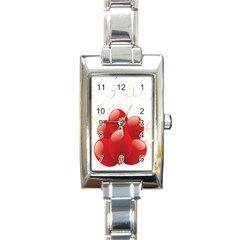 Balloon Partty Red Rectangle Italian Charm Watch