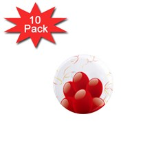 Balloon Partty Red 1  Mini Magnet (10 pack)