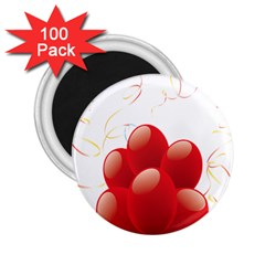 Balloon Partty Red 2.25  Magnets (100 pack)