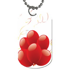 Balloon Partty Red Dog Tag (One Side)