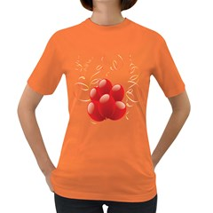 Balloon Partty Red Women s Dark T-Shirt