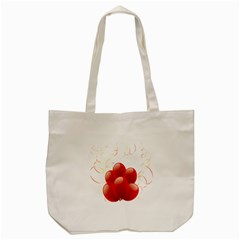 Balloon Partty Red Tote Bag (Cream)
